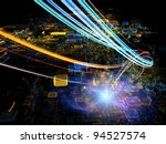 interplay of colorful motion... | Shutterstock . vector #94527574
