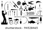 various fishing tools set   Shutterstock .eps vector #94528465