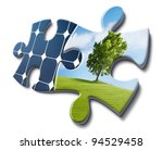 solar energy fits with nature ...   Shutterstock . vector #94529458