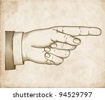 hand with pointing finger on... | Shutterstock .eps vector #94529797