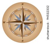 retro compass  wind of rose... | Shutterstock .eps vector #94532332