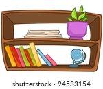 cartoon home furniture book... | Shutterstock .eps vector #94533154