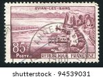 france   circa 1957  stamp... | Shutterstock . vector #94539031
