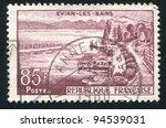 france   circa 1957  stamp... | Shutterstock . vector #94539031