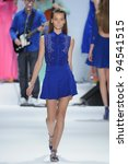 Small photo of NEW YORK - SEPTEMBER 14: Model walks the runway at the Nanette Lepore Spring/Summer 2012 collection during New York Fashion Week on September 14, 2011 in New York City.