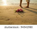 wedding couple on the paradise... | Shutterstock . vector #94541980
