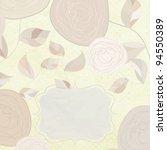 vintage floral card with rose.... | Shutterstock .eps vector #94550389