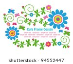 cute floral frame design....