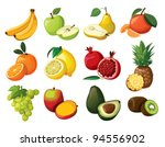 a set of delicious fruit.... | Shutterstock .eps vector #94556902