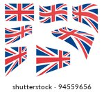 Set Of United Kingdom Flags...