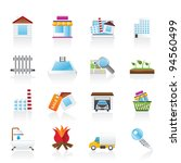 real estate and building icons  ...   Shutterstock .eps vector #94560499