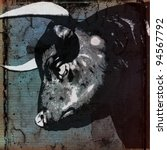 bull head background | Shutterstock . vector #94567792