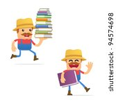 set of funny cartoon farmer in... | Shutterstock .eps vector #94574698