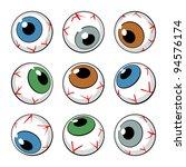 set of eyeball symbols on white ... | Shutterstock .eps vector #94576174