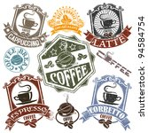 set of rubber stamps with the... | Shutterstock .eps vector #94584754