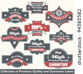 premium quality and guarantee... | Shutterstock .eps vector #94585582