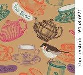 tea time. seamless background | Shutterstock .eps vector #94585921