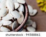 Ceramic Bowl Full Of Pumpkin...