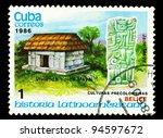 cuba   circa 1986  postage... | Shutterstock . vector #94597672