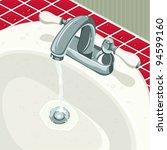bathroom sink | Shutterstock .eps vector #94599160