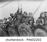 VIKING WARRIORS - stock photo