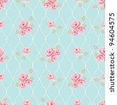 Stock vector classic rose pattern seamless vector rose wallpaper 94604575