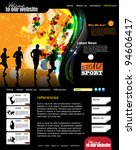 web template with sport subject | Shutterstock .eps vector #94606417