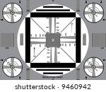 vector illustration of tv test...
