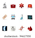 web icons   more medical | Shutterstock .eps vector #94617550