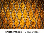 metal plate with warning stripe | Shutterstock . vector #94617901