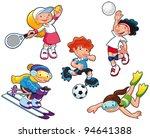 sport characters. cartoon... | Shutterstock .eps vector #94641388