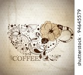 vector picture with coffee cup | Shutterstock .eps vector #94645579