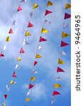 red  white and yellow flags in... | Shutterstock . vector #9464965