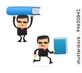 set of funny cartoon security... | Shutterstock .eps vector #94650841