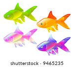 color gold fish   design... | Shutterstock .eps vector #9465235