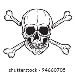 Skull And Crossbones Isolated...