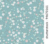 Seamless Forget Me Not Flowers...