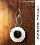 vector coffee cup against... | Shutterstock .eps vector #94670314