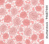 seamless background with roses... | Shutterstock .eps vector #94687444