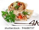 image of a doner kebab on a...