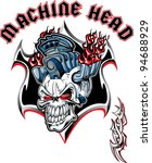 machine head skull | Shutterstock .eps vector #94688929