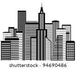 city silhouette | Shutterstock .eps vector #94690486