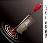 vector target with arrow | Shutterstock .eps vector #94691767