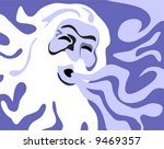 wind background  is hand drawn... | Shutterstock .eps vector #9469357