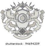 lion shield crest | Shutterstock .eps vector #94694209