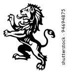 lion rampant 3 | Shutterstock .eps vector #94694875