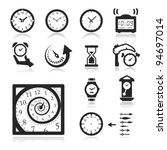 clocks icons set elegant series | Shutterstock .eps vector #94697014