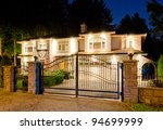 A Luxury House With The Gates...