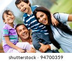 happy family having fun... | Shutterstock . vector #94700359