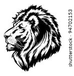 Lion Head Graphic - stock vector